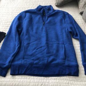 J Crew blue half zip